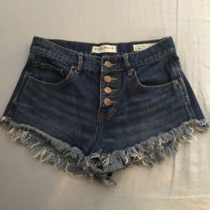 Bullhead High-Waisted Jean Shorts